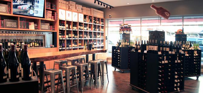 store interior, Marquis Wine Cellar - Alan James Architect