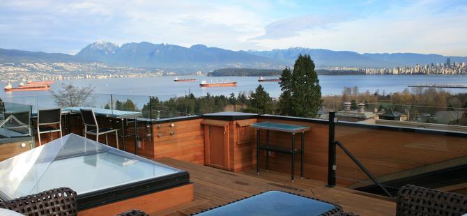 roof deck, Residential Restoration, West Point Grey - Alan James Architect