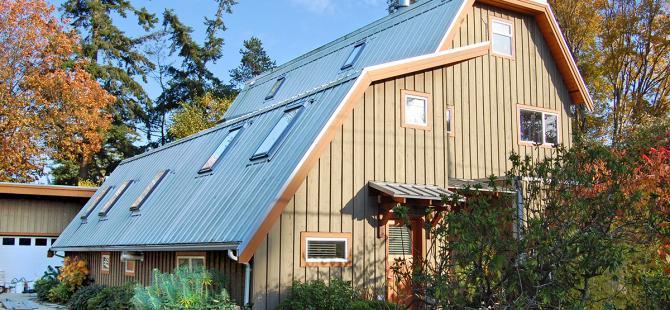 """Delta """"urban farmhouse"""" exterior"""